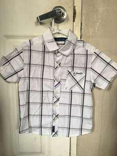 Authentic Periwinkle Jr. top polo shirt boys 6y