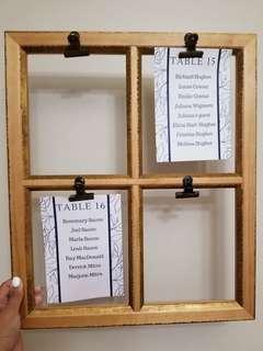 4 panel window frames (4 total)