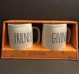Rae Dunn Friends Giving Thanksgiving Mug set