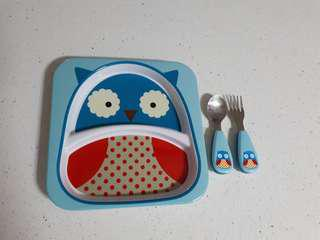 SkipHop plate and utensils