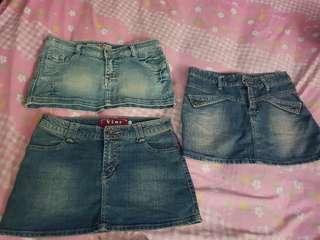 rok mini jeans(harga tertera sudah dpt 3 ya)