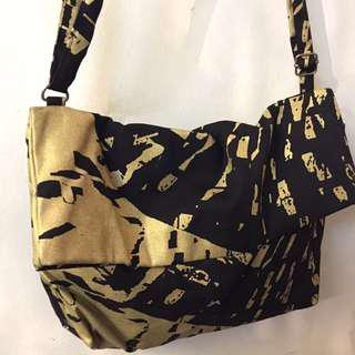 ABSTRACT FLOWER SERIES (Canvas Flap Bag)