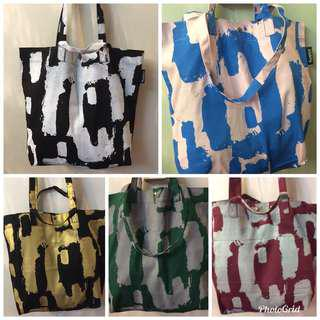 Silkscreened Dump-it-All-in Large Canvas Tote Bag