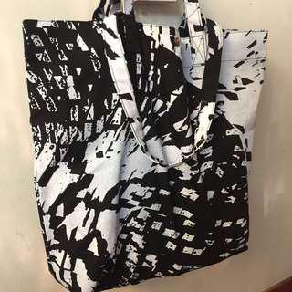 ABSTRACT FLORA SERIES (Dump-It-All-In Large Canvas Tote Bag)