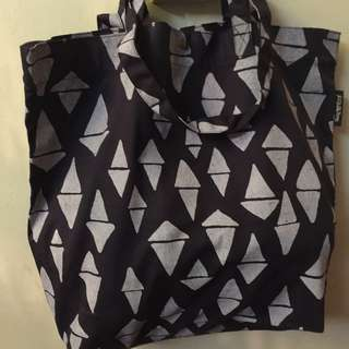 ODD TRIANGLES SERIES (Dump-It-All-In Large Canvas Tote Bag)