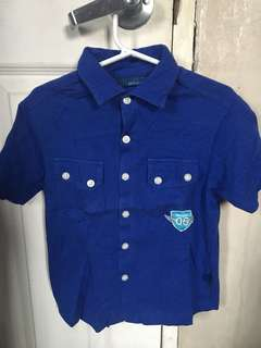 Authentic Perwinkle Jr. top boys polo shirt 6y
