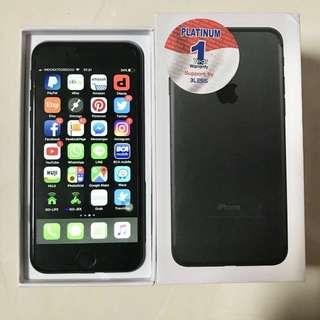 iPhone 7 128gb jet black 1 bulan pemakaian, garansi platinum 1 tahun