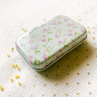 Small Tin Box Floral Print