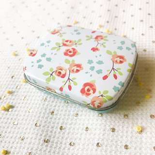 Mini Tin Box Floral Print