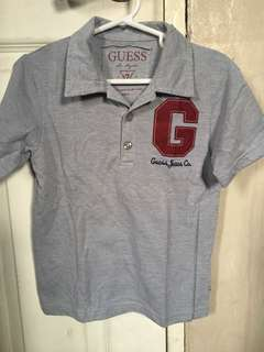 Authentic Guess boys top polo shirt size M fits 6 - 7 years old