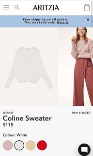 Wilfred Coline Sweater from aritzia - size xxs