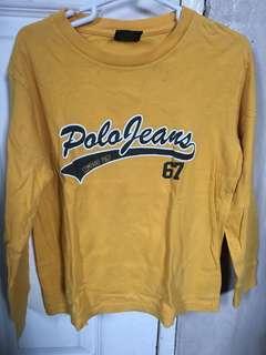 Authentic Polo jeans Ralph Lauren top sweatshirt boys long sleeve fits 6y