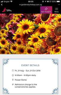 Garden by the Bay Fixed Date Eticket
