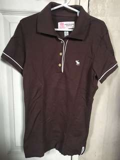 Authentic Abercrombie & Fitch top polo shirt size XS