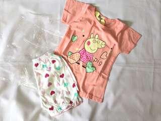 Peppa Pig Girl Tee Shirt and Short