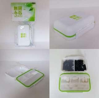 無菌永遠 MUKIN 藥丸盒 💊💊💊💊💊💊 (6格獨立蓋掩,防水膠邊設計)