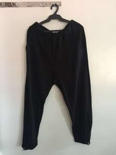 Black Joggers with Zipper detail