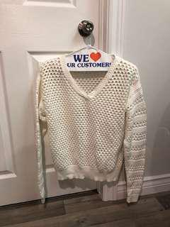 Babaton White Knit Sweater in size smal