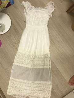 白色仙女裙
