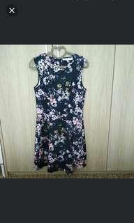 Valleygirl TEMT Neoprene Blue Floral Dress