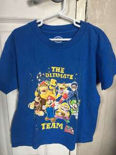 Authentic Nintendo Super Mario Sluggers boys top shirt Size Small