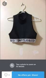 Untitled & Co sleeveless crop top