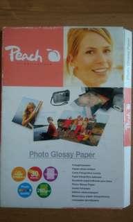 Peach Glossy Photo Paper 10 x 15cm