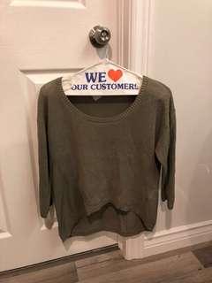 Babaton Green Knit Sweater