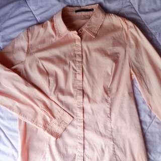 Formal Shirt - Kemeja Kerja Wanita Pink Pastel