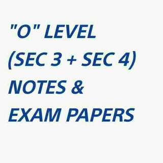"""""""O"""" LEVEL NOTES & EXAM PAPERS SOFTCOPY"""