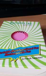 Portable Fan powerful, also a desktop fan