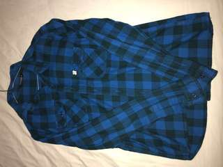 UNDEFEATED blue flannel