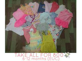 Take all baby girl clothes for 6-12mos