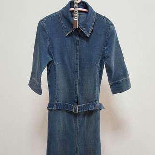 Tatto-Blue Denim Dress