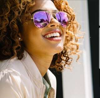 DIFF EYEWEAR 'Cruz' purple aviator sunglasses