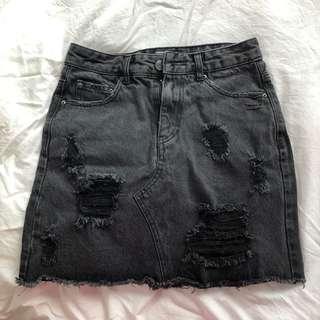 Washed skirt