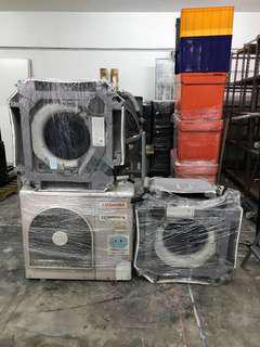 Toshiba aircon set, 2 blowers with 1 compressor