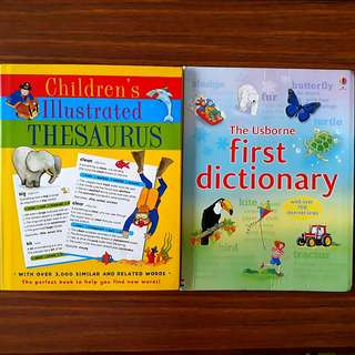 2 for $10: The Usborne first dictionary; Children's Illustrated THESAURUS #1212