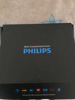 Brand new Philips android media box