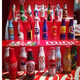 Coca-Cola Mini Aluminum Bottle Mexico Complete set 2018