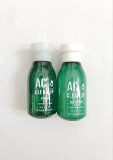 Etude House AC Clean Up Toner & Gel Lotion