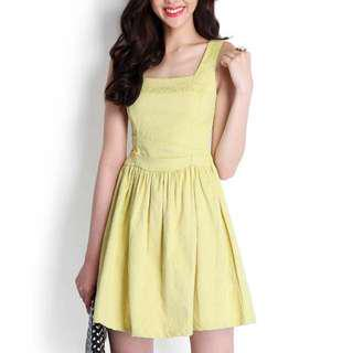 🚚 Lilypirates Lover's Serenade Dress In Mustard Yellow (BNWT) Size s