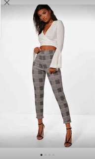 Boohoo pants. New with tags. High waisted.