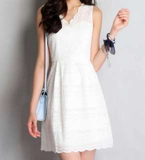 Lilypirates Reverie Dress in Pearl/White