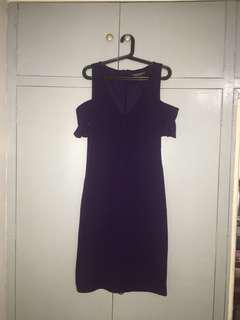 Dorothy Perkins Purple Cold Shoulder Dress