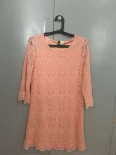 H&M Divided Peach Lace Dress