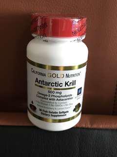 美國直送 California Gold Nutrition Antarctic Krill 500mg 南極磷蝦油 含有蝦青素30粒