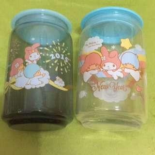 美樂蒂&雙星仙子週年紀念限定玻璃儲存罐