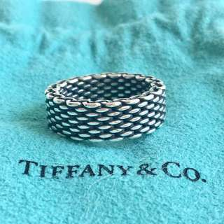 Tiffany Somerset 925 Silver Ring (size 50)
