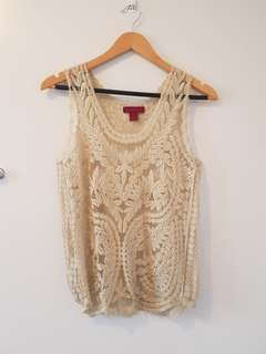 Intricate lace top